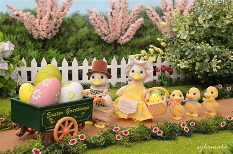 5 Adorable Families Celebrating Easter by 17 Best Images About Sylvanian Families On