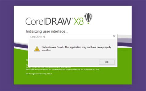 corel draw x7 vgcore dll error no font were found error coreldraw x7 coreldraw