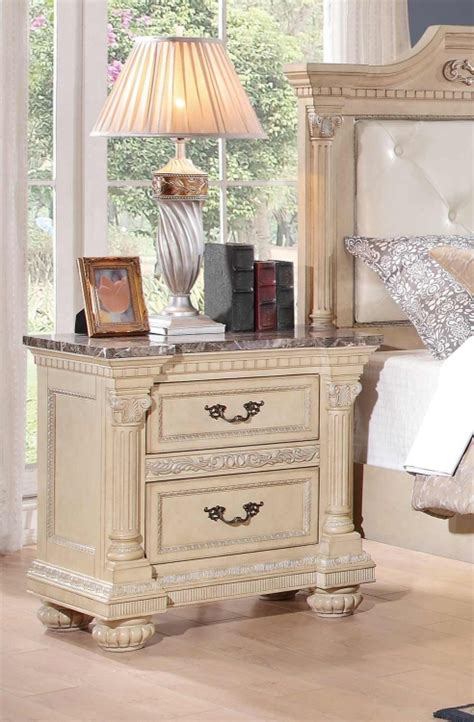 russian bedroom furniture homelegance russian hill bedroom set antique white 1808w