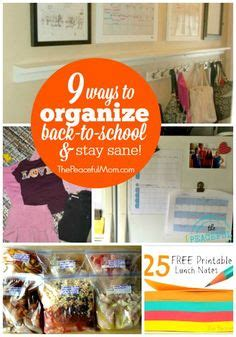 back to school lunch box planner organized 31 homeschool organization on pinterest homeschool home