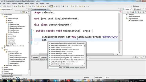 format date using java how to display date in dd mm yyyy format in java youtube