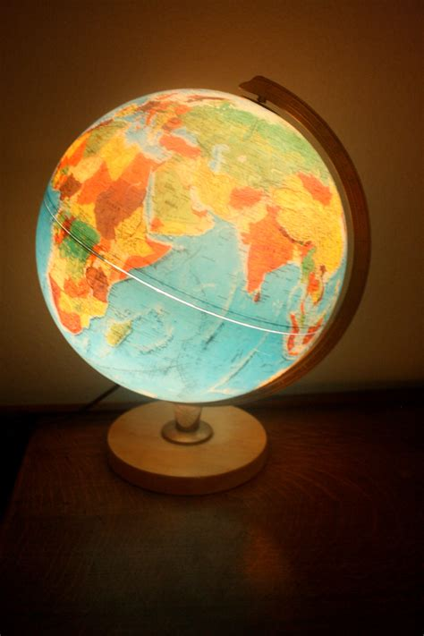 replogle world globe with light mid century treasury item