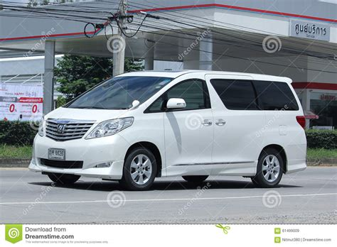private toyota alpha car editorial stock image image