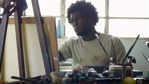 people painting happy black people painting for hobby portrait of