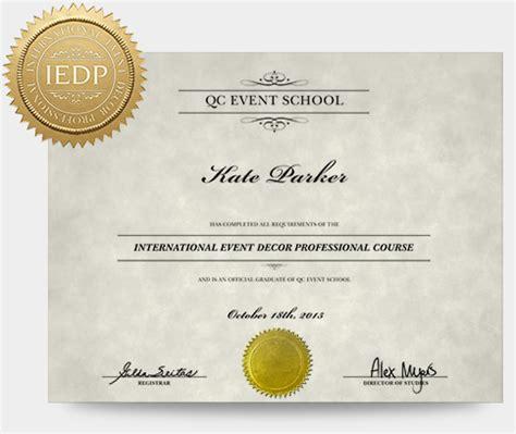 event design certification event decor course qc event school