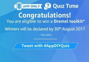 amazon quiz time 5 answer added amazon today quiz time win dremel