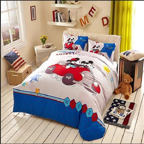 100 Cotton Starry Minnie Mickey Mouse Bedding Luxury Minnie And Mickey Mouse Bed Set