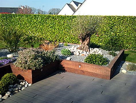 Jardins En Terrasse by Amenagement Jardin Photos Avec Emejing Amenagement