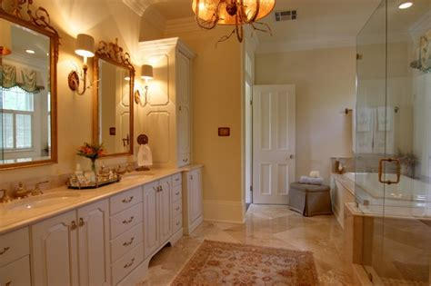 elegant master bathrooms pictures elegant master bathroom with custom cabinetry lighting