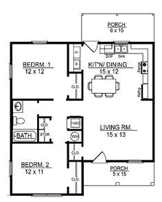 one story cabin plans floor plans aflfpw17415 1 story cottage home with 2