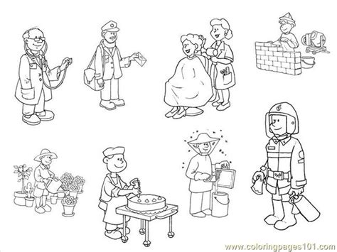 occupations coloring pages printable coloring pages