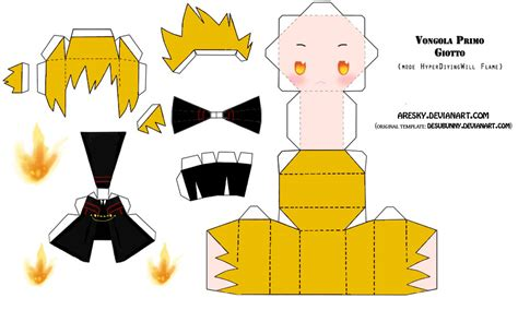 Papercraft Anime Templates - papercraft khr giotto by aresky on deviantart