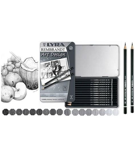 Lyra Rembrandt Design 12 Pcs lyra rembrandt design graphite pencils set of 12 craft4kids australia