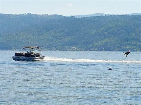 wakeboarding behind a hurricane deck boat pontoon boat wakeboard tower the f250 pontoon wake tower