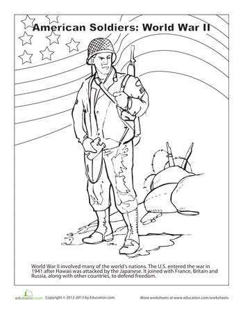Worksheets World War Ii Coloring Page Homeschool World War 1 Coloring Pages