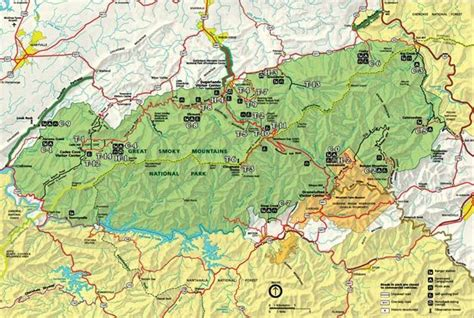 smoky mountains tennessee map great smoky mountains park map tennessee