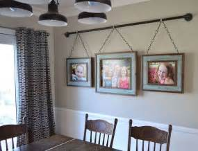Dining Room Wall Decor Ideas Iron Pipe Family Photo Display Dining Room Ideas Home