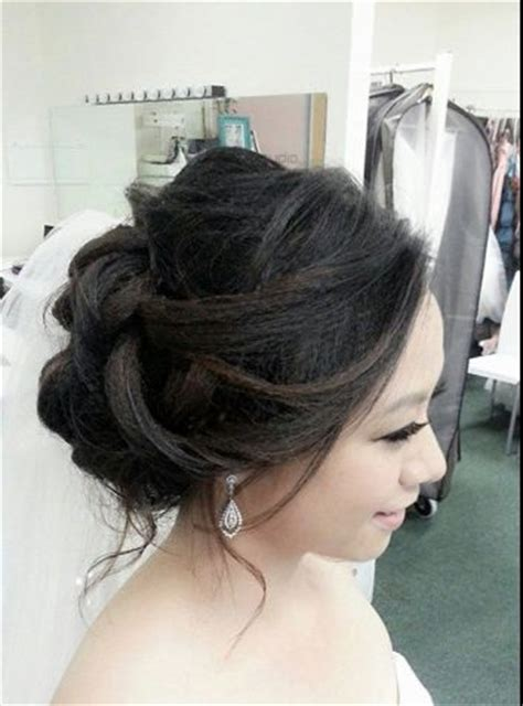 Asian Wedding Hairstyles Gallery by Asian Wedding Updo Engagement Bridal Hairstyles