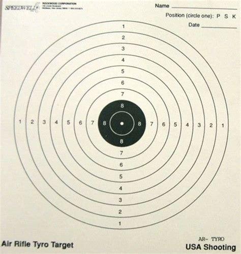 22 long rifle printable targets air rifle tyro target ballistics and logistics pinterest