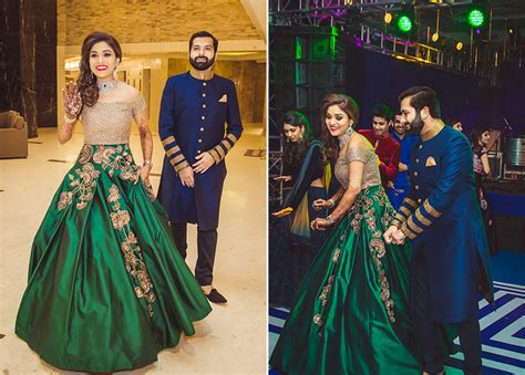 16 Times Real Brides Rocked Green Lehengas   Fashion