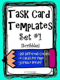 task card template powerpoint check out preview 40 task cards with answer and