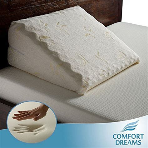 pillows for back pain in bed elegant memory foam bed wedge pillow adds comfort for