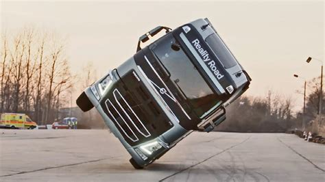 volvo truck stunt youtube