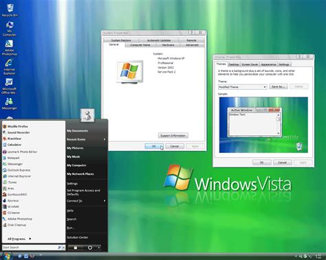 download themes for windows xp looks like vista make xp look like windows vista longhorn for free
