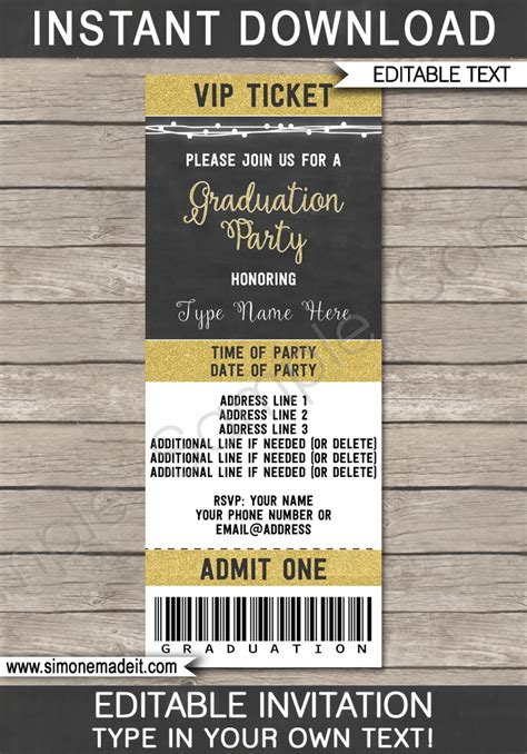 Graduation Party Ticket Invitations Template Class Of 2017 Graduation Invitations 2017 Templates