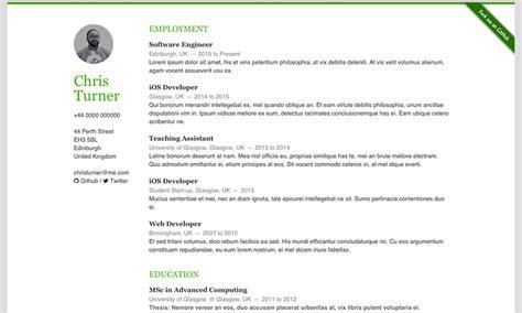 html resume template github github resume resume ideas