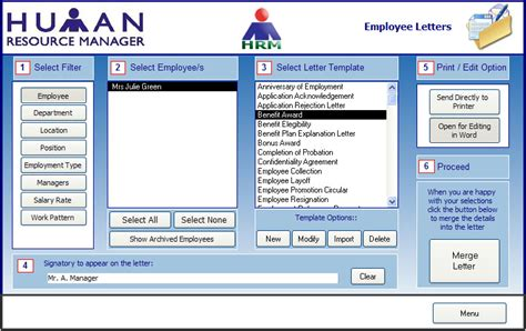 Human Resources Management Free Human Resources Access Database Template