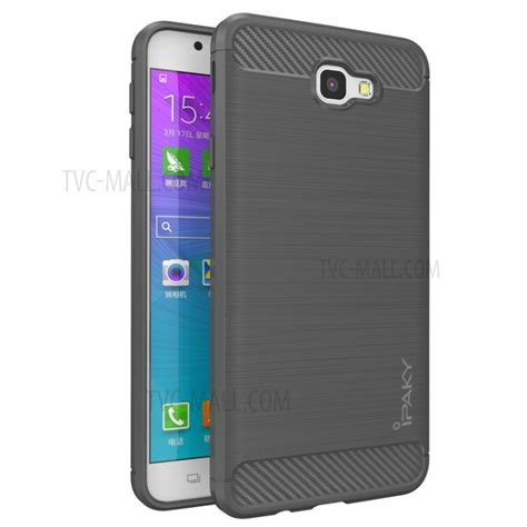 ipaky brushed tpu phone case  samsung galaxy  prime   grey tvc mallcom