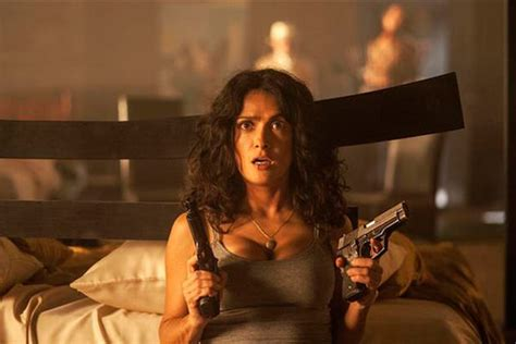 film action hot salma hayek saves herself from assassins in action film