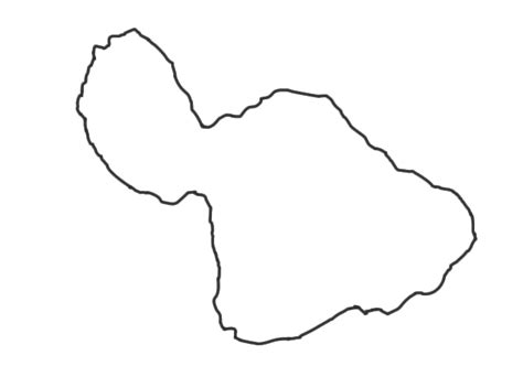 Island Outline by Image Gallery Blank Island