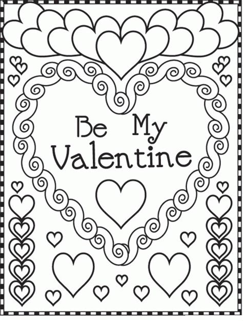 Free Coloring Pages Valentines Day Valentines Day Coloring Pages Bestofcoloring Com by Free Coloring Pages Valentines Day