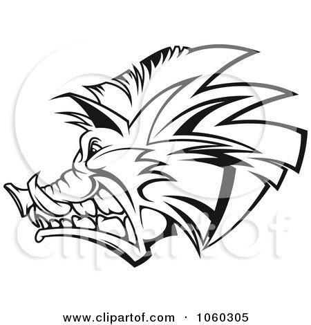 royalty  rf razorback logo clipart illustrations
