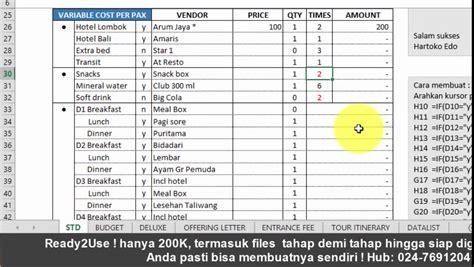 cara membuat brosur wisata cara membuat paket wisata ke bali lombok 2015 menyusun