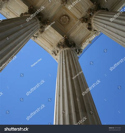 Washington Dc Court Search Marble Columns At Supreme Court Washington Dc Stock Photo 10716184