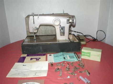 Vintage Sears Kenmore Model 50 Purple Sewing Machine W