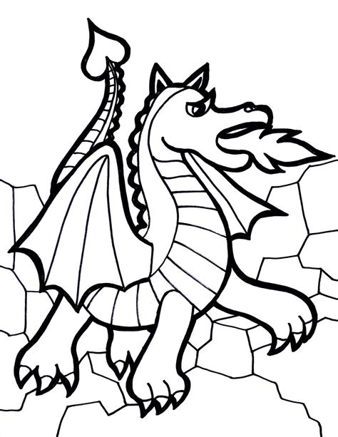 Free Printable Dragon Coloring Pages For Kids Coloring Sheet