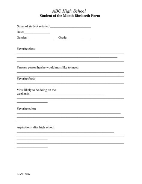 biography templates for students best photos of biography template for students biography