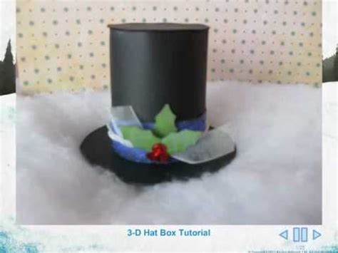 How To Make A Snowman Hat Out Of Construction Paper - 3 d snowman hat tutorial