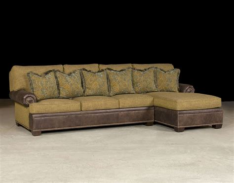 Vintage Leather Sectional With Chaise 187 Home Decorations Leather Chaise Sofa
