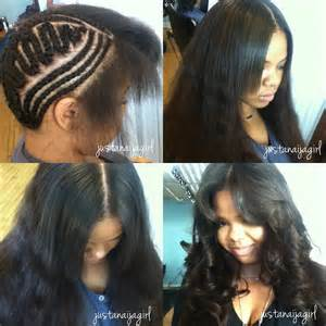 sew in hairstyles with braids 1000 images about weaves on pinterest sew ins