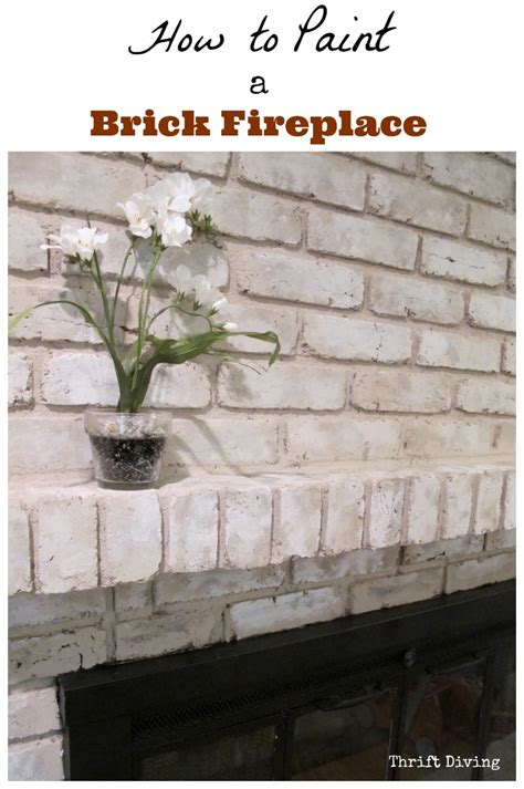 Tutorial How To Paint A Brick Fireplace Can You Paint Brick Fireplace
