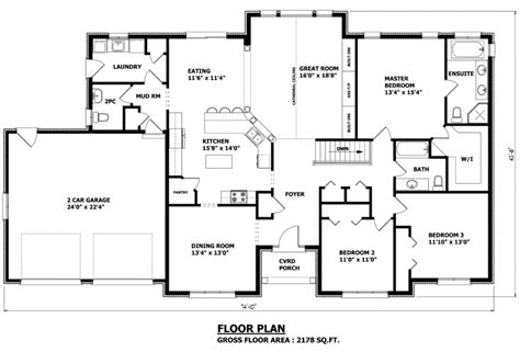 Custom Floor Plans by Canadian Home Designs Custom House Plans Stock House