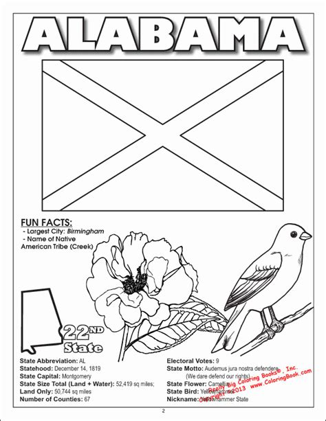 alabama state colors alabama state symbols coloring pages coloring home