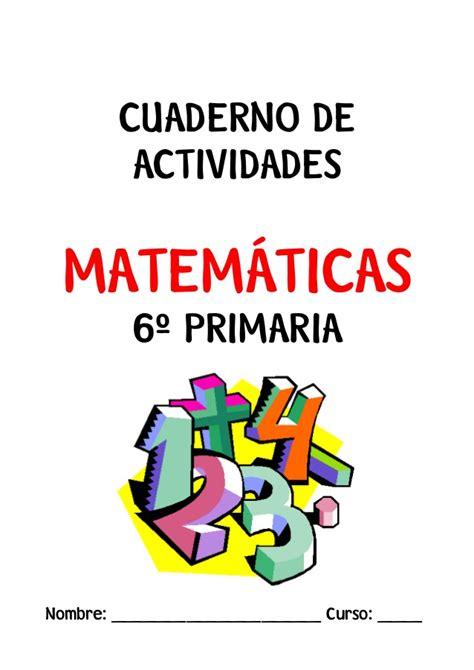 cuaderno matemticas 6 primaria actividades repaso matem 225 ticas 6 170 primaria
