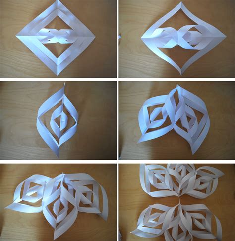 How To Make A 3d Snowflake With Paper - 6 ways with snowflakes 3d snowflakes