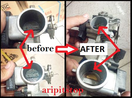 Pembersih Throttle mudahnya service injeksi motor yamaha apa saja sich